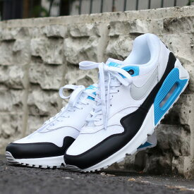 NIKE AIR MAX 90/1 (ナイキ エア マックス 90 1)WHITE/NEUTRAL GREY-BLACK-LASER BLUE【メンズ スニーカー】18FA-S