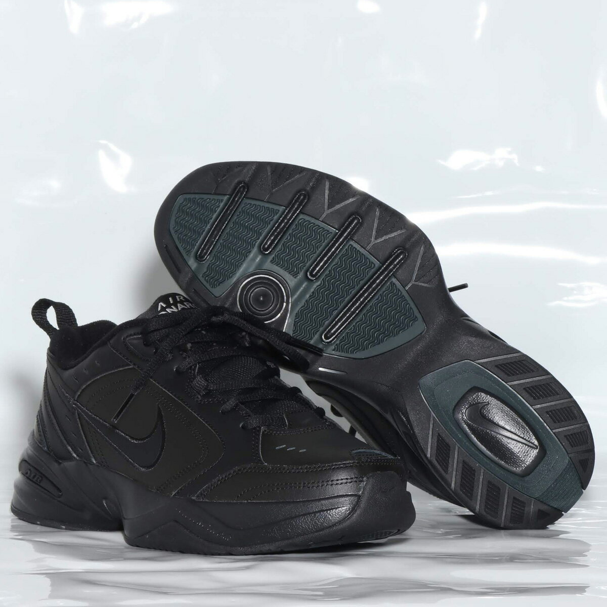 NIKE AIR MONARCH IV(ナイキ エア モナーク 4)BLACK/BLACK【メンズ レディース スニーカー】18HO-I