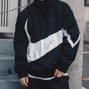 NIKE AS M NSW HBR JKT WVN STMT(ナイキ HBR STMT ウーブン ジャケット)BLACK/WHITE/BLACK/BLACK【メンズ ビッグスウ…