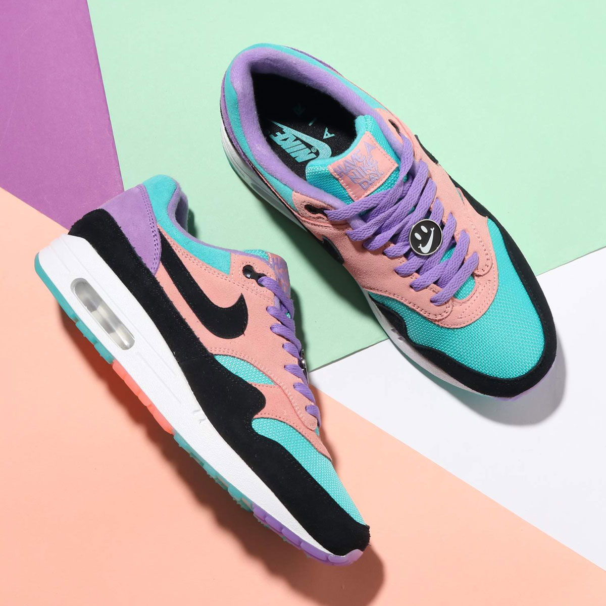 NIKE AIR MAX 1 ND (ナイキ エア マックス 1 ND)SPACE PURPLE/BLACK-BLEACHED CORAL【メンズ レディース スニーカー】19SP-I