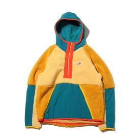NIKE AS M NSW HE HOODIE HZ WINTER(ナイキ HE ハーフジップフーディ ウィンター)CLUB GOLD/GEODE TEAL/GOLD SUEDE【メンズ パーカー】19HO-S