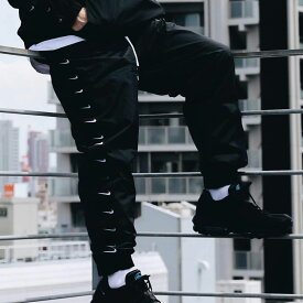 NIKE AS M NSW SWOOSH PANT WVN(ナイキ スウッシュ ウーブン パンツ)BLACK/WHITE【メンズ パンツ】19FA-S