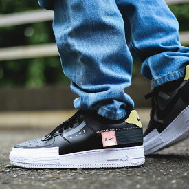 NIKE AF1-TYPE(ナイキ エアフォース1 タイプ)BLACK/ANTHRACITE-ZINNIA-PINK TINT【メンズ レディース スニーカー AIR FORCE】19FA-I at20-c