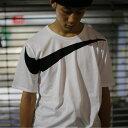 NIKE AS M NSW TEE DRPTL OVRSZ SWSH(ナイキ ドロップテール オーバーサイズ スウッシュ Tシャツ)WHITE/BLACK【メン...