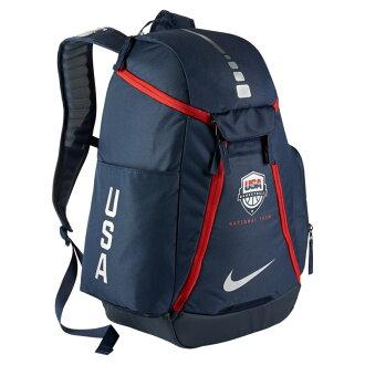 NIKE HOOPS ELITE MAX AIR TEAM BACKPACK USA (Nike hoops elite air team Max backpack USA) MIDNIGHT NAVY/METALLIC SILVER 16FA-I