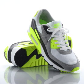 NIKE AIR MAX 90(ナイキ エア マックス 90)WHITE/PARTICLE GREY-VOLT-BLACK【メンズ スニーカー】20SP-S at20-c