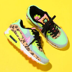 NIKE W AIR MAX 90 LX(ナイキ ウィメンズ エア マックス 90 LX)ILLUSION GREEN/SUNSET PULSE-BLACK-WHITE【レディース スニーカー】20SP-S at20-c