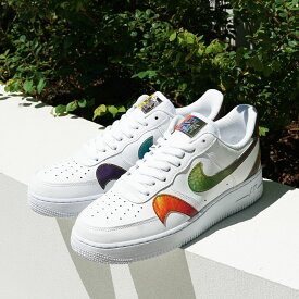 NIKE AIR FORCE 1 '07 LV8(ナイキ エア フォース 1 '07 LV8 2)WHITE/MULTI-COLOR-WHITE【メンズ スニーカー】20FA-I