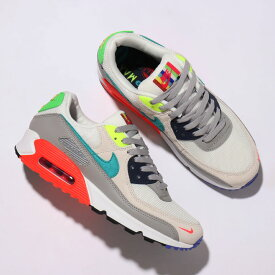 "NIKE AIR MAX 90 SE ""TV COLOR BARS PACK""(ナイキ エア マックス 90 SE)PEARL GREY/SPORT TURQ-SUMMIT WHITE-BLACK【メンズ スニーカー】21SP-I"