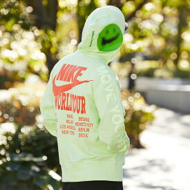 NIKE AS M NSW PO FT HOODIE WTOUR(ナイキ NSW FT WTOUR プルオーバー L/S フーディ)LT LIQUID LIME【メンズ パーカー】21SP-I