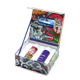 Crep Protect x atmos x THREE TIDE TATTOO THE ULTIMATE RAUN & STAIN Special BOX SET (クレップ プロテクト x アトモス x スリータイドタトゥー 防水スプレー スペシャルボックスセット)【シューケア用品】