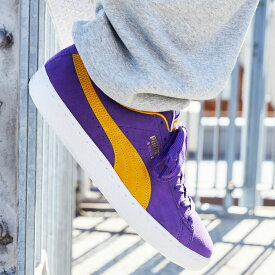 PUMA SUEDE TEAMS(プーマ スウェード チームス)Prism Violet-Spectra Yellow【メンズ スニーカー】21SU-I at20-c