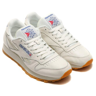 Reebok CL LTHR VINTAGE (리 복 클래식 레더 빈티지) CHALK/PAPERWHITE/COLLEGIATE ROYAL/EXCLLNT RED 16SS-S