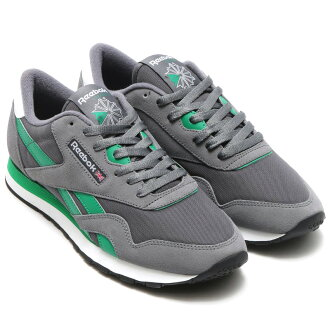 Reebok CL NYLON (Reebok classic nylon) ALLOY/ASH GREY/BASIL GREEN/WHITE/BLACK 16SS-I