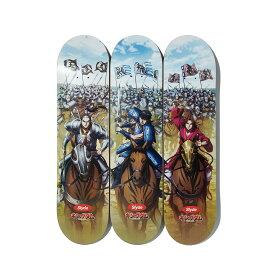 Slyde / KINGDOM 3 SQUADS SKATE DECK(スライド / キングダム スリースクワッズ スケートデッキ)MULTI【メンズ スケートボード】20SU-S