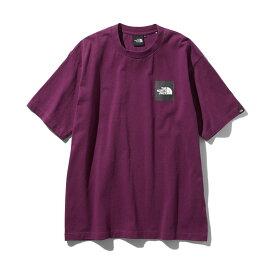 THE NORTH FACE S/S SQUARE LOGO TEE(ザ・ノース・フェイス S/S スクエアロゴ ティー)パンプロナパープル【メンズ Tシャツ】19FW-I