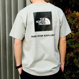 THE NORTH FACE S/S BACK SQUARE LOGO TEE(ザ・ノース・フェイス ショートスリーブ バックスクエア ロゴ ティー)MIX GRAY【メンズ 半袖Tシャツ】21SS-I at20-c