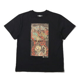 UBIQ IREZUMI T-SHIRT (Youkai) Designed by Ganji(ユービック イレズミ ティシャツ (ヨウカイ) デザインド バイ ガンジー)BLACK【メンズ Tシャツ】18SU-I