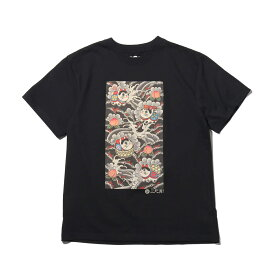 UBIQ IREZUMI T-SHIRT (MoMoFukuInu) Designed by NAMI(ユービック イレズミ ティシャツ (モモフクイヌ) デザインド バイ ナミ)BLACK【メンズ Tシャツ】18SU-I
