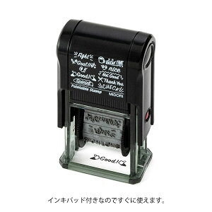 【ミドリ】 スタンプ 回転印 メッセージ 英語柄 35377