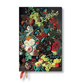 【2020年版】paperblanks ペーパーブランクスウィークリーダイアリー(週間+ノート)【Still Life with Flowers and Fruit】(ミニサイズ)