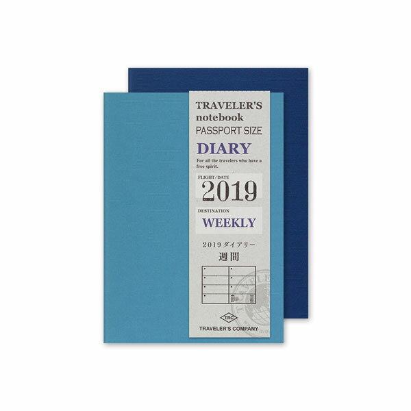 TRAVELER'S notebookミドリ トラベラーズノートリフィル(2019週間ダイアリー/パスポートサイズ)