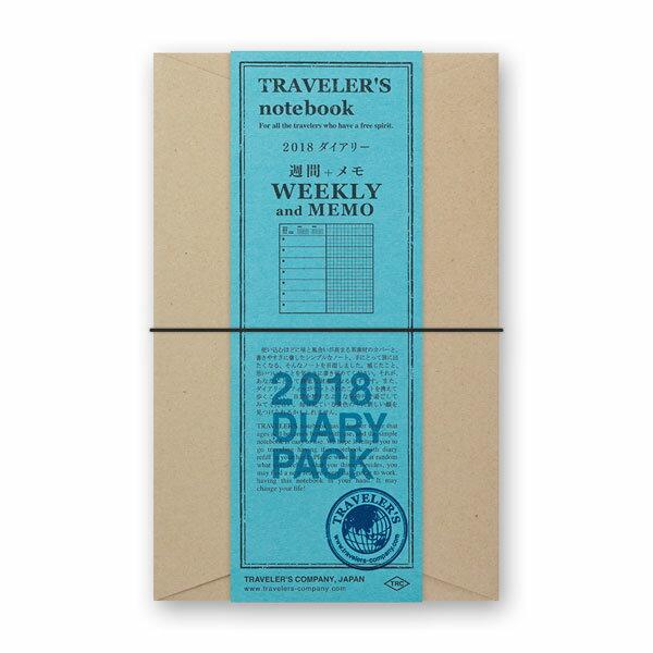 TRAVELER'S notebook トラベラーズノート2019年 週間+メモ ダイアリーセット【レギュラーサイズ/4カラー】