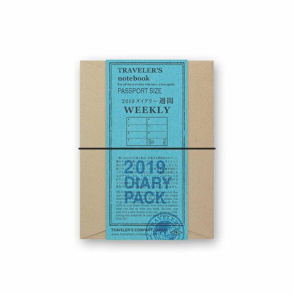 TRAVELER'S notebook トラベラーズノート2019年 週間ダイアリーセット【パスポートサイズ/4カラー】