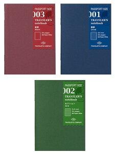★メール便配送可能★TRAVELER'S notebookミドリ トラベラーズノートMD用紙(無罫・横罫・方眼)(パスポートサイズ)