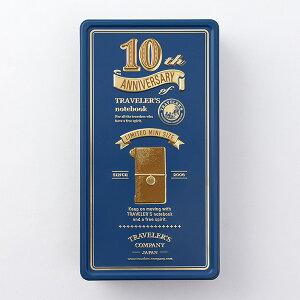 TRAVELER'S notebookトラベラーズノート ミニ10周年限定缶セット(青缶/キャメルミニノート)02P05Nov16