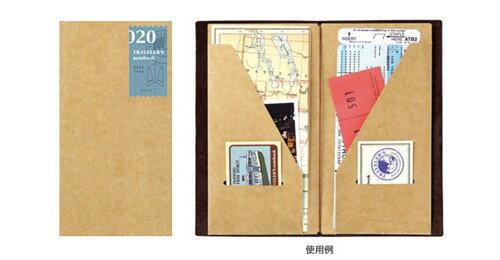 ★メール便配送可能★TRAVELER'S notebookミドリ トラベラーズノートクラフトファイル