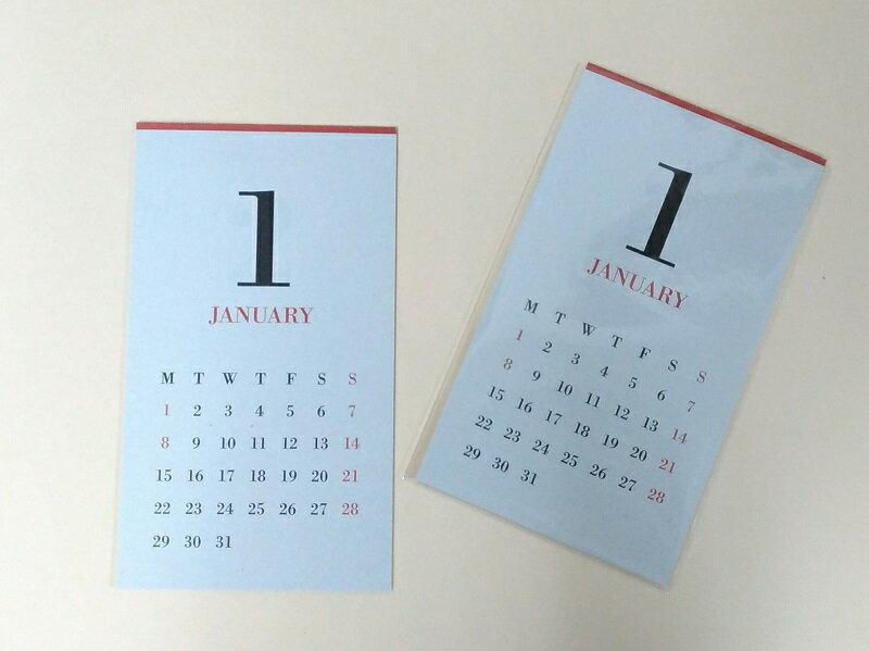 MUCU CLAMP CALENDERムク クランプカレンダー(2018年版リフィル)