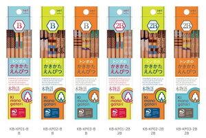 かきかた鉛筆 F木物語 B.2B Kimonogatari トンボ鉛筆 Tombow02P05Nov16