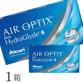 【送料無料】【YM】エアオプティクス プラス ハイドラグライド 1箱 2週間タイプ(片眼3ヶ月分 / アルコン / チバビジョン / 2week / AIR OPTIX plus HydraGlyde)