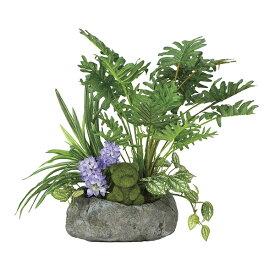 人工観葉植物 光触媒 ミニグリーン 観葉植物 ミニ インテリア 人工植物 フェイク ミックスクッカバラ グリーン 高さ40cm