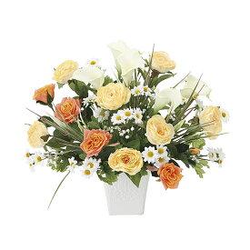 観葉植物 造花 光触媒 アートフラワー フェイク フラワー リビング おしゃれ 玄関 人工植物 オレンジ バラ