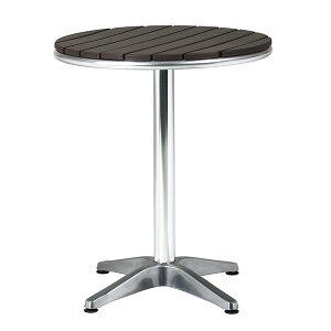 ガーデンテーブル ダイニングテーブル ウッドデッキ用 カフェテーブル 机 アルミテーブル ファミリータイプ 庭 作業台 アルミ 通販 丸型 奥行き60 シンプル 幅60 ハイテーブル 屋外用 コンパ