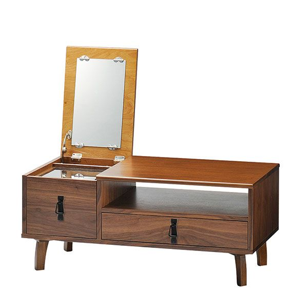 dresser vanity mirror desk low type furniture cosmetic box makeup box storage drawer wristlet cosmetic table work units center table w cute saving space