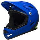 ベル BMX フルフェイス ヘルメット サンクション BELL SANCTION マット ブルー/ブライトグリーン Mサイズ(55-57cm) 7100149