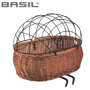 BASIL バジル プルート フロントバスケット ペットヨウ サイクルバスケット 014262 XLサイズ (50X37X20cm) ブラウン
