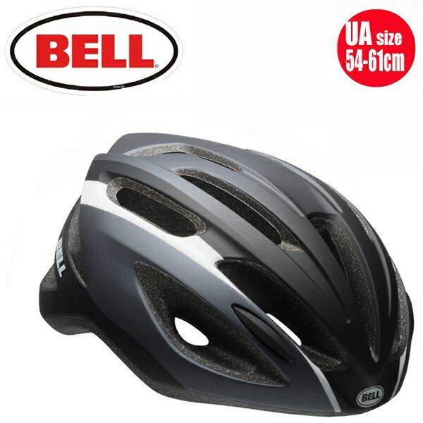 【BELL ロードバイク ヘルメット】 「BELL Crest R ベル クレストR」 マットブラック/ダークチタニウムスティング UA(54-61) 7072958 ロードバイク 自転車 ヘルメット 送料無料