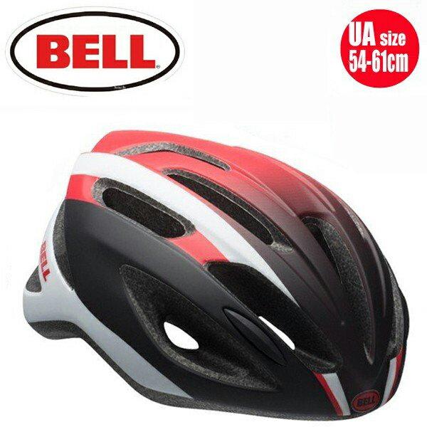 【BELL ロードバイク ヘルメット】 「BELL Crest R ベル クレストR」 マットホワイト/レッド/ブラックスティング UA(54-61) 7072960 ロードバイク 自転車 ヘルメット 送料無料