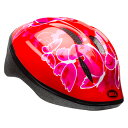 【BELL ヘルメット 子供】 「BELL Zoom 2 ベル ズーム2」 レッドバタフライ XS/S(48-54) 7072836 「SGマーク」付き ストライダー 子供 …