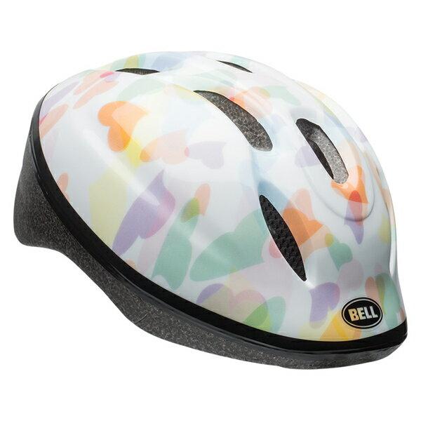 【BELL ヘルメット 子供】 「BELL Zoom 2 ベル ズーム2」 ホワイトハーツ M/L(52-56) 7072841 「SGマーク」付き ストライダー 子供 ヘルメット