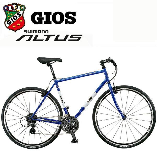 【条件付き送料無料】 ジオス ミストラル クロモリ 「GIOS MISTRAL CHROMOLY」 2018 Gios ブルー クロスバイク