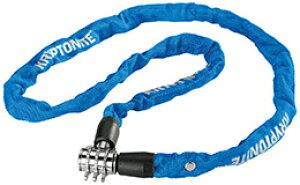 チェーン ロック 鍵 KRYPTONITE クリプトナイト キーパー 411 コンボチェーン 4x1100mm BLU LKW29001