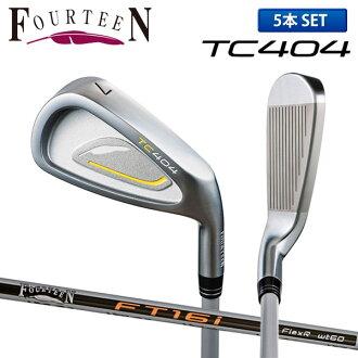 Fourteen golf TC404 iron set 5 regular company of fire fighters (6-P) FT-16i carbon shaft FOURTEEN
