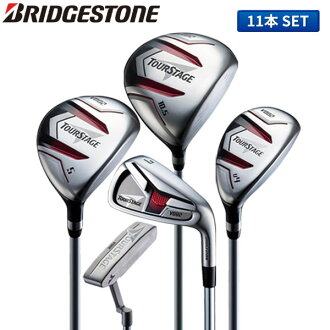 The TOURSTAGE beginner whom there is no Bridgestone golf tour stage V002 club set 11 regular company of fire fighters (1W,5W,4U,6-PW,PS,SW,PT) caddie bag in