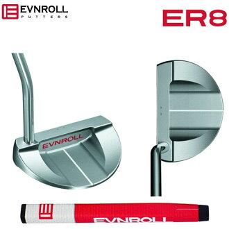 Standing even roll golf ER8 tour mallet putter EVNROLL ER-8