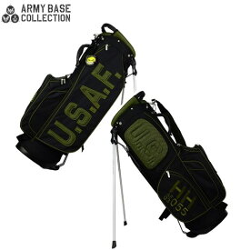 【数量限定】 アーミーベースコレクション ゴルフ USエアフォース ABC027SB スタンド キャディバッグ ARMY BASE COLLECTION AIR FORCE ブラック ゴルフバッグ